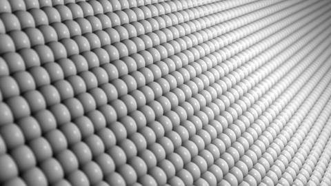 Abstract Clean White Technology Motion Background with a Mesh of Spheres Animation