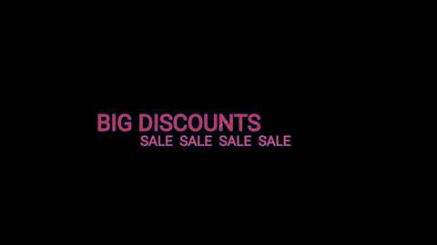 Big discounts 5 Animation