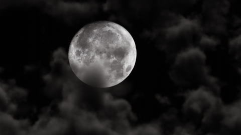 UHD shot of the moon with 3D animated realistic clouds CG動画