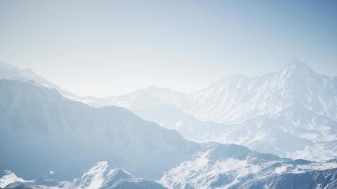 Alpine Alps mountain landscape, top of Europe Switzerland Live Action