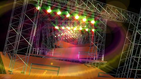 Live stage studio glow light loop animation Animation