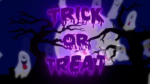 Trick or Treat Ghosts - 10 sec - Purple CG動画