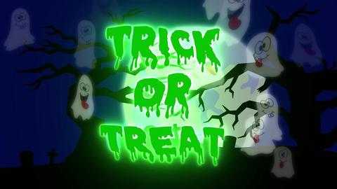 Trick or Treat Ghosts - 05 sec - Green CG動画