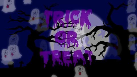 Trick or Treat Ghosts - 05 sec - Purple 애니메이션