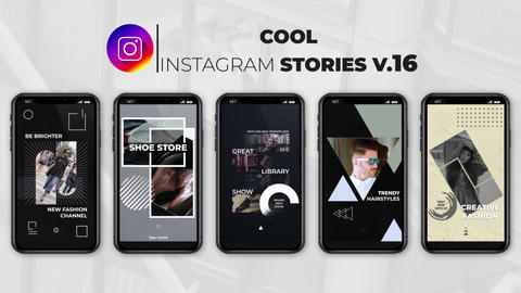 Cool Instagram Stories v 16 After Effects Template