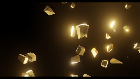 3d render. Gold, shiny numbers 2020, a symbol of the outgoing year. The numbers break down, scatter, Live Action