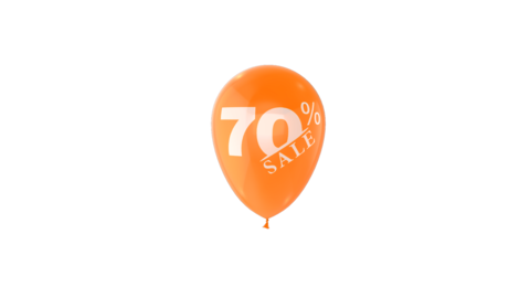 70% Percent Sales Discount Loop Animation with QuickTime / Animation / Alpha Channel Videos animados