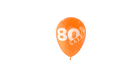 80% Percent Sales Discount Loop Animation with QuickTime / Animation / Alpha Channel Videos animados