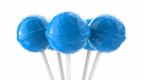 3D looping animation of the light-blue lollipops, alpha matte is included Animation