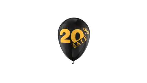 20% Percent Sales Discount Loop Animation with QuickTime / Animation / Alpha Channel Videos animados