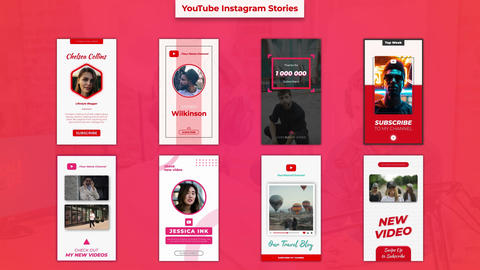 YouTube Instagram Stories After Effects Template