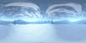 Nature Winter Scene VR360 3D Illustration Fotografía de realidad virtual (RV) en 360°