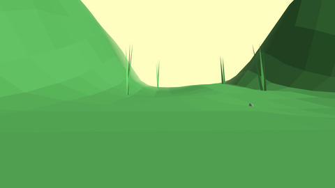 Low poly retro style bug world Animation
