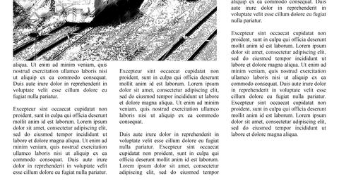 Scrolling newspaper with Lorem Ipsum text, seamless loop video Animation