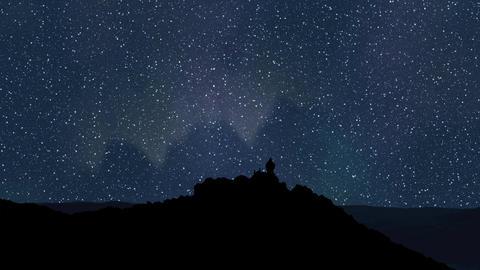 Night sky time lapse Animation