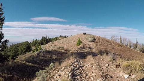 Top of mountain trail off road recreation POV HD 939 Footage