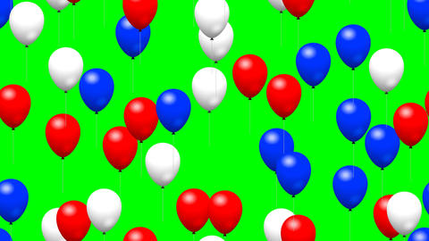 Party balloons generated seamless loop video green screen Animation