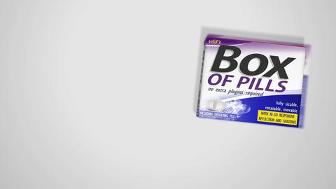 3D Box Of Pills And Bottle Template After Effects Template