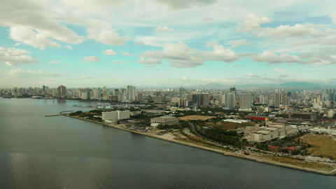 Manila city, the capital of the Philippines Live Action