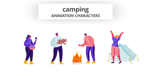 Camping - Character Set After Effects Template