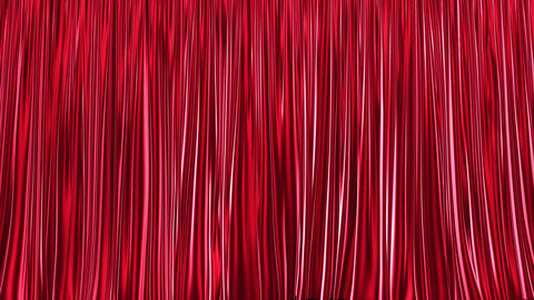 UHD 3D animation of the red stage curtain with alpha matte CG動画