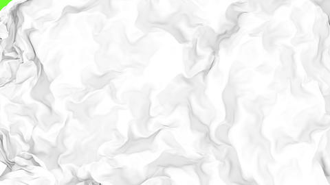 UHD 3D animated opener or transition of the white cloth revealing a background CG動画