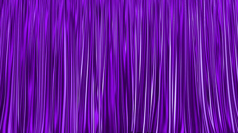 UHD 3D animation of the purple stage curtain with alpha matte Animation