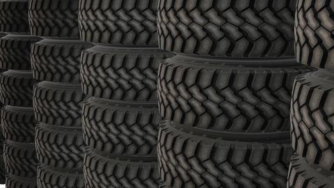 New car tires wheels storage animation CG動画