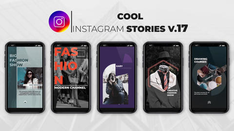 Cool Instagram Stories v 17 After Effects Template