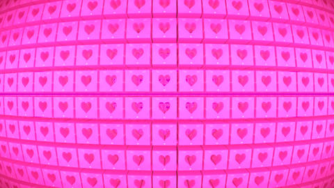 Broadcast Rotating Hi-Tech Cubes Globe Matrix, Pink, Events, 3D, Loopable, HD 애니메이션