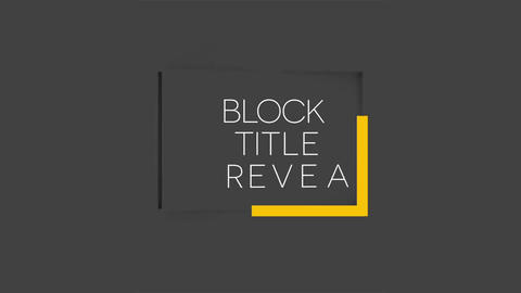 Rotating Block Title Motion Graphics Template