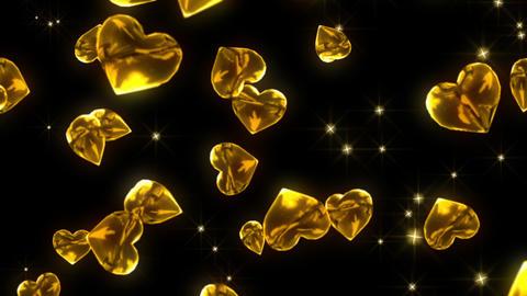 gold Heart particle loop animation 애니메이션