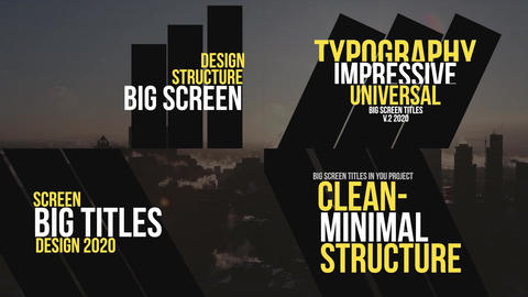 Big Screen Titles v.2 Premiere Pro Template