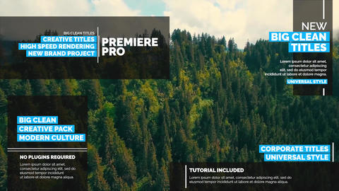 Big Titles Pack v 3 ME Premiere Pro Template