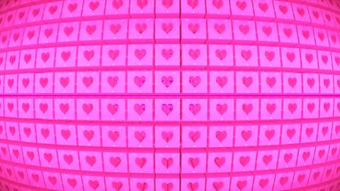 Broadcast Rotating Hi-Tech Cubes Globe Matrix, Pink, Events, 3D, Loopable, 4K Animation