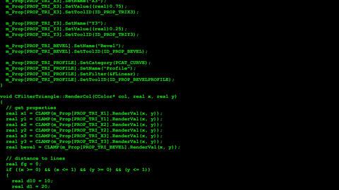 Program source code flow Animation