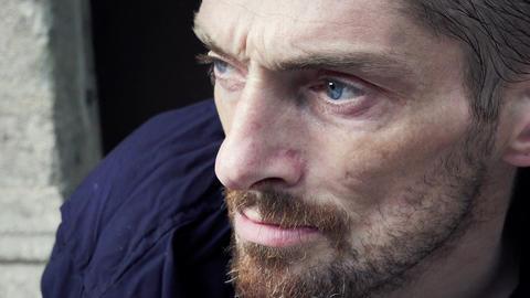 homelessness portrait Footage