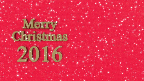 2016 Xmas background_Gold Animation