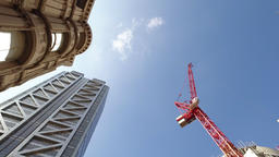 Construction Crane next to Heron Tower Footage