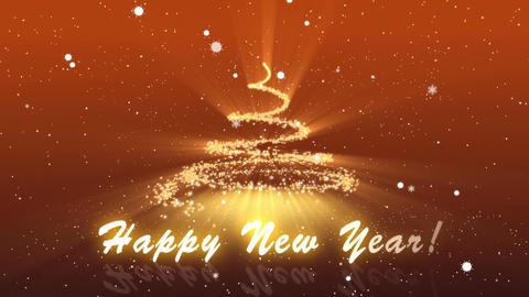 Happy New Year plus Dark Orange BG Animation