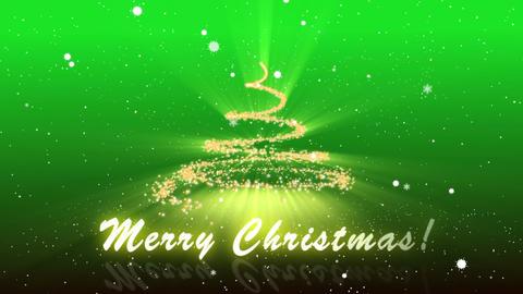 Merry Christmas Green BG Animation
