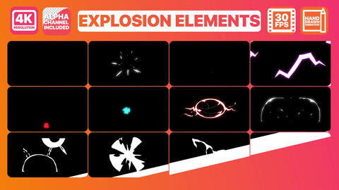 Explosion Elements And Titles Motion Graphics Template