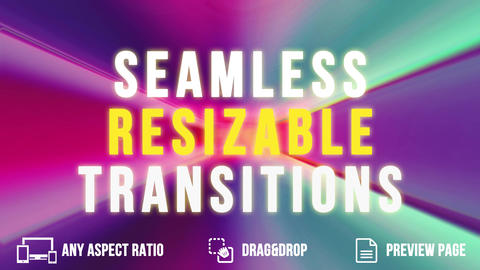 Seamless Resizable Transitions After Effects Template