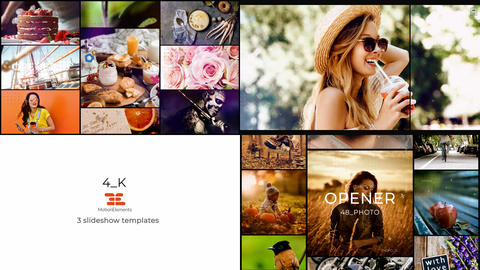 Collection-3. 3 slideshow 4_K templates in one project After Effects Template