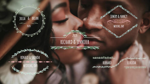 Wedding Titles V3 Motion Graphics Template