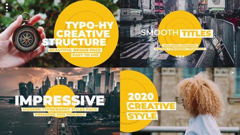 Typography Titles Pack V.3 프리미어 프로 템플릿