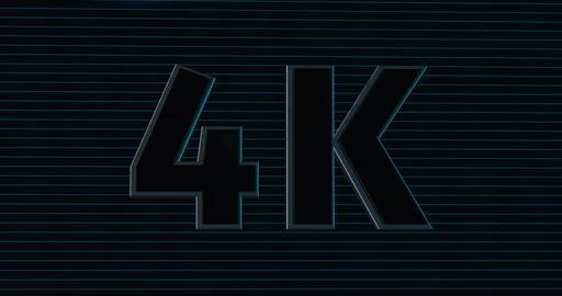 4K, 4000. 3D Promotion Intro. Text Logo Animation