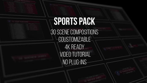 Sports Pack Plantilla de Apple Motion