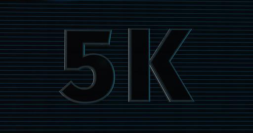 5K, 5000. 3D Promotion Intro. Text Logo Animation