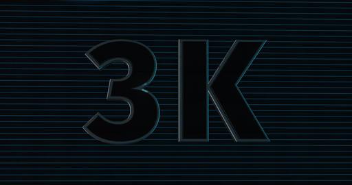3K, 3000. 3D Promotion Intro. Text Logo Animation